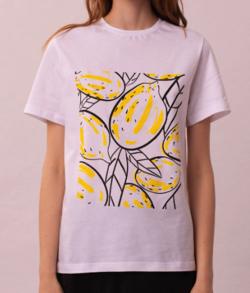 NEHERA Unisex lemons square t-shirt