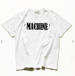 1/F プリントT 《MACHINE》 / シールドケーブル コラージュ ロゴ プリント クルーネック Tシャツ