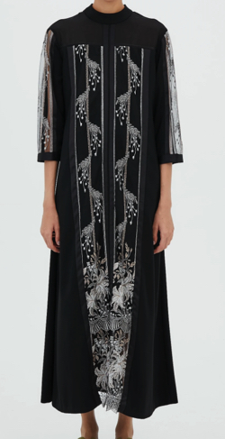 MURRAL Framed flower dress