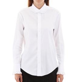 CELINE(セリーヌ) WHITE Celine frilled shirt