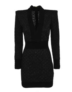 BALMAIN n-neck diamond dress