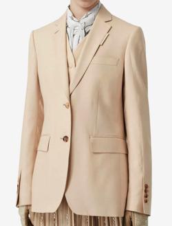 BURBERRY(バーバリー)waistcoat detail mohair silk