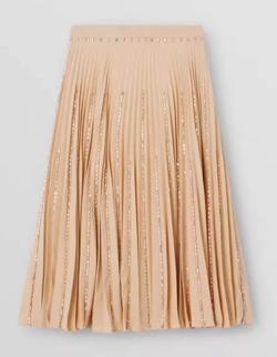 BURBERRY(バーバリー)detail plisse soleil strech cady skirt