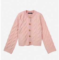 SJYP pink twisted pink cardigan