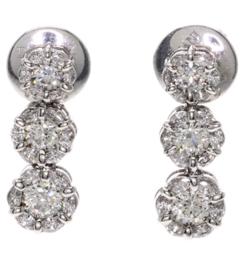 DAMIANI white gold earring w/diamond