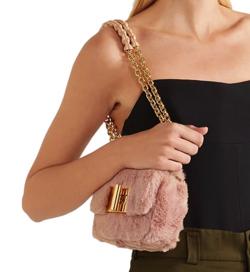 TOM FORD Natalia Mini Soft Faux-Fur Shoulder Bag
