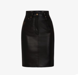 LOUIS VUITTON(ルイヴィトン)leather pencil Skirt