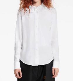 LOUIS VUITTON(ルイヴィトン) long sleved shirt with embroided collar
