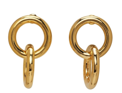 NUMBERING  Gold earrings