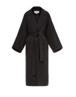 LOEWE (ロエべ)Oversize Belted Coat Grey Melange