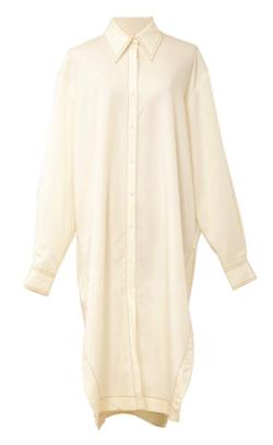 YCH white side slits midi dress
