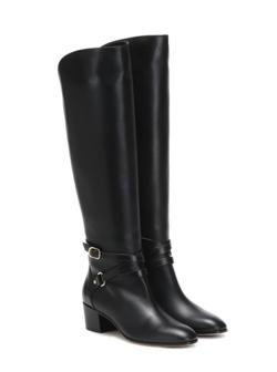 JIMMY CHOO  Huxlie 45 leather kneehigh boots