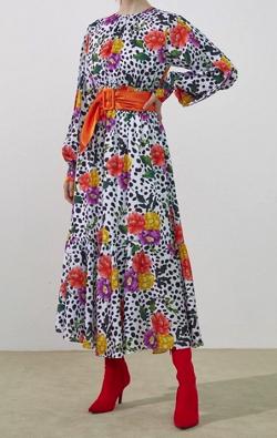 ROMANCHICFlower Pattern Long Dress