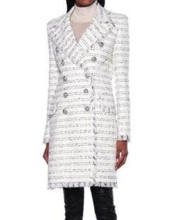 BALMAIN tweed coat