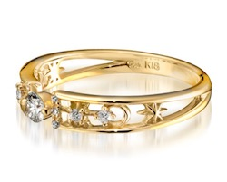 STAR JEWELRY K18 リング DIAMOND RING