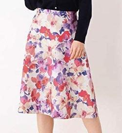 SOUP グログランフラワースカート