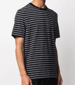 Dries Van Noten コットン ブラック ストライプ Tシャツ