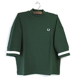 FRED PERRY (フレッドペリー)Oversized piqué T-Shirt