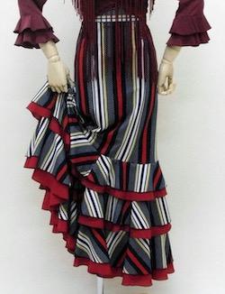 ナジャハウス トリコロールストライプスカート(紺系)