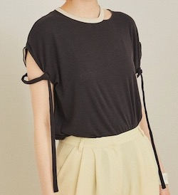 PUBLIC TOKYO(パブリックトウキョウ)ストリングショルダーTシャツ
