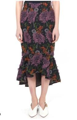 Lautashi(ラウタシー)フラワージャガードマーメイドスカート