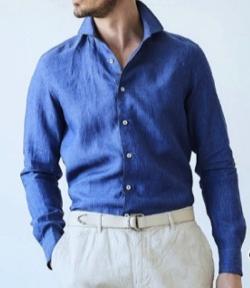 g-stage ディレイブ染めリネンシャツ