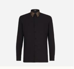 FENDI(フェンディ)ブラックコットン シャツ