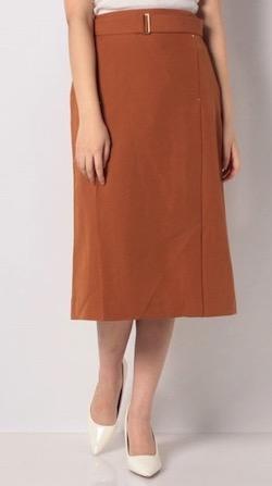 Te chichi 1504680(TC)麻調カシメ使いタイトスカート