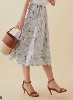 Fabulous Angela 2WAYリバーシブルカットジャガードフレアスカート