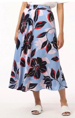 GRACE CONTINENTAL (グレースコンチネンタル)フラワーフレアラップスカート