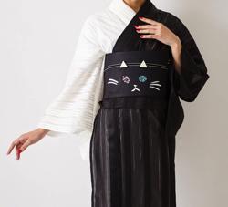 ふりふ 浴衣「魔女猫オッドアイ」