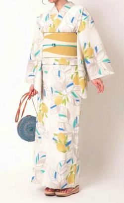 三松 三松オリジナル浴衣「レモン」