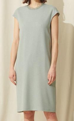 EPOCA ストレッチクロスサックドレス