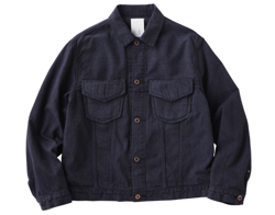 KURO Level Pocket Switched Denim Jacket / Black