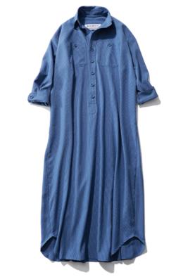 BLUEBIRD BOULEVARD ドライタッチサッカーシャツドレス