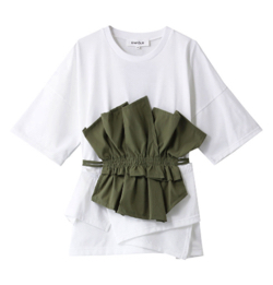 ENFOLD Cut Layered Tシャツ