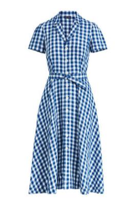 POLO RALPH LAUREN ギンガム リネン ドレス