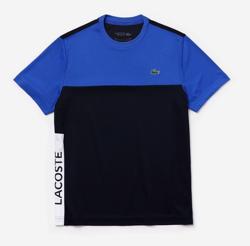 LACOSTE ウルトラドライ仕様カラーブロックピケTシャツ