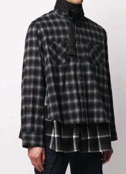Sacai レイヤード チェックシャツ