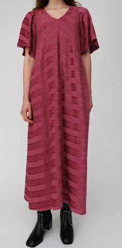 MOUSSY SHADOW PLAID MAXI ドレス