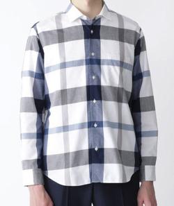 BLACK LABEL CRESTBRIDGE コットンリネンクレストブリッジチェックシャツ