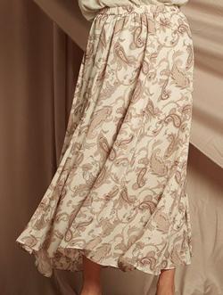 LAUTREAMONT ペイズリー柄のボリュームフレアスカート