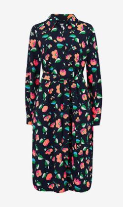Essentiel Antwerp Tong Floral Print Shirt Dress