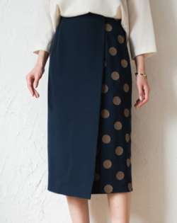 Loungedress ドットタイトスカート