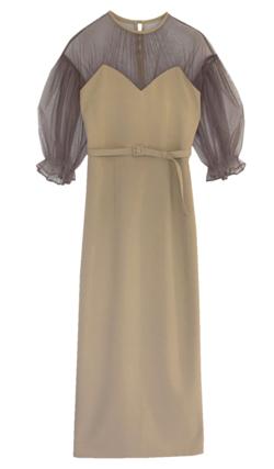 Ameri VINTAGE AIRY SLEEVE TIGHT DRESS