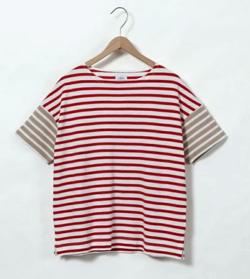 coen 鹿の子ボーダーTシャツ