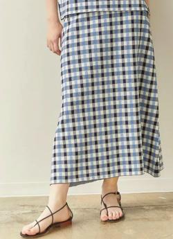 MARILYN MOON ギンガムチェックジャガードスカート