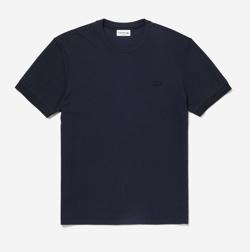 LACOSTE レギュラーフィット コットン×シルクブレンドクルーネックTシャツ