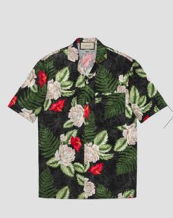 GUCCI ハワイアン プリント ボウリングシャツ