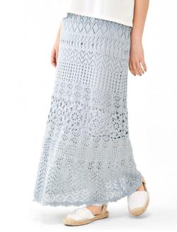 flower sunny crochet skirt 〜サニークロシェスカート